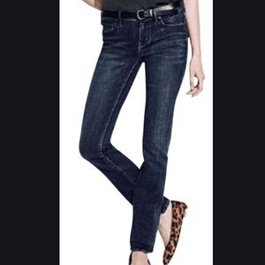 {MADEWELL} Rail Straight Dark Wash Jeans